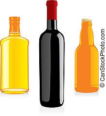 Isolierte Alkoholflaschen