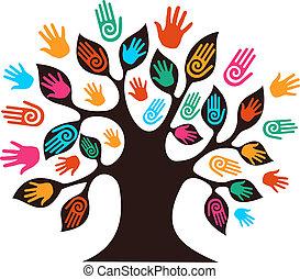 Isolierte Vielfalt Baumhände