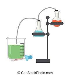 Isoliertes chemisches Experimentbild