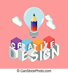 Isomerisches kreatives Designkonzept