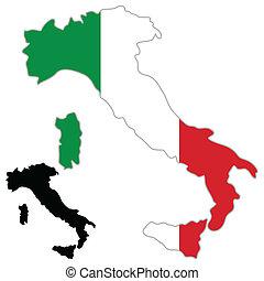 Italienische Landkartenflagge
