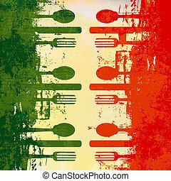 Italienische Speisekarte
