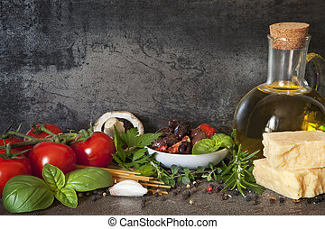 Italienischer Lebensmittel Hintergrund