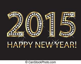 jahr, 2015, glücklich, hintergrund, neu
