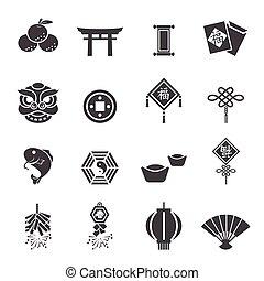 jahreswechsel, chinesisches , heiligenbilder