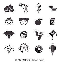 jahreswechsel, chinesisches , ikone