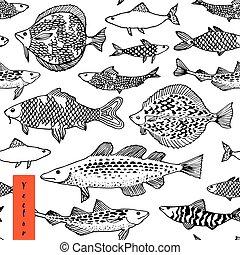 Japan Seefisch Illustration in Vektor.