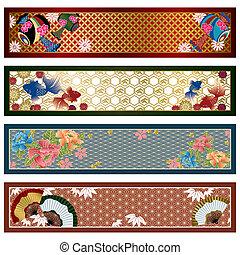 Japanische traditionelle Banner