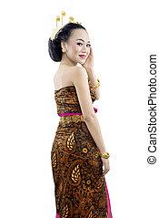 java, asiatisch, traditionelle , tanz, frau, kostüm