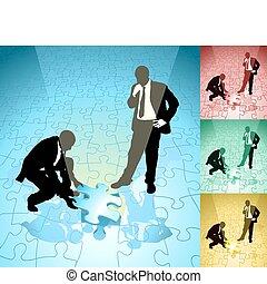 Jigsaw Business Concept Illustration