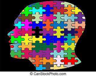 Jigsaw-Kopf