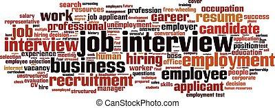 Job-Interview-Wort Wolke