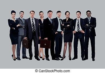 Junge attraktive Geschäftsleute - das Elite-Business-Team.