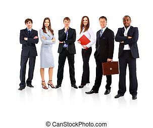 Junge attraktive Geschäftsleute - das Elite-Geschäftsteam
