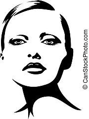 Junge Frau Illustration