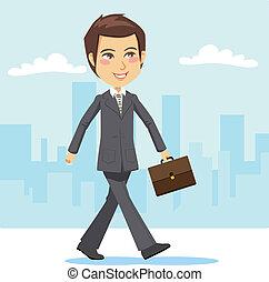 Junger aktiver Geschäftsmann.