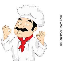 küchenchef, karikatur