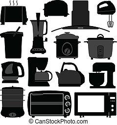 Küchengeräte, elektronisches Werkzeug.