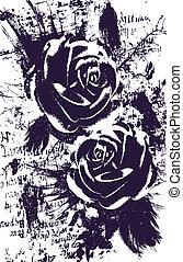 Künstliche Rose, abstrakter Hintergrund