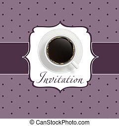 Kaffeeeinladung Hintergrund