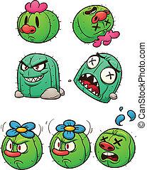 kaktus, charaktere