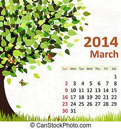 Kalender für 2014, Marsch