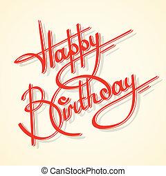 Kalligraphie Happy Birthday.