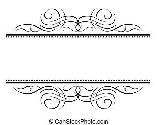 Kalligraphie Vignette, Schmuck-Penmanship-Dekorationsrahmen