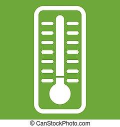 Kaltes Thermometer Ikonengrün