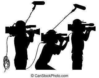 Kameraleute bei der Arbeit