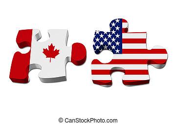Kanada arbeitet mit den USA zusammen.