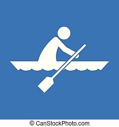 Kanusportfigurensymbol Vektorgrafik.