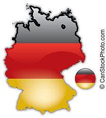 Karte der Deutschen