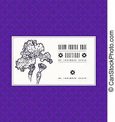 Karte mit Irisblume