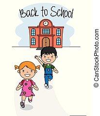 Karte zurück zur Schule