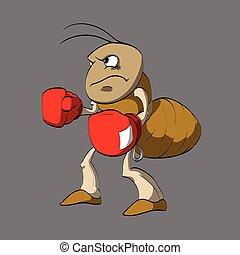 Kartoon-Ant-Boxer.