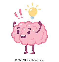 Kartoon Gehirn Idee