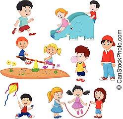 Kartoon-Kids spielen.