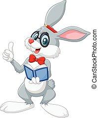 Kartoon kluges Kaninchen denken.