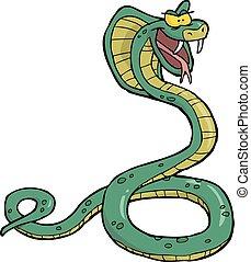 Kartoon-Schlangenkobra.