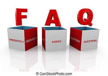 kasten, faq, -, fragen, frequently, fragte, 3d