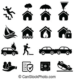katastrophe, versicherung, heiligenbilder