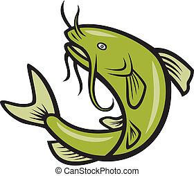 Katzenfisch, der Cartoon springt