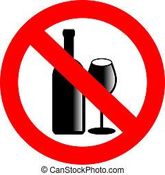 Kein Alkohol-Vektorzeichen.
