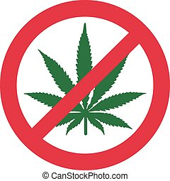 Kein Marihuana. Dope verboten