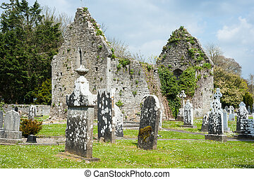 Keltische Friedhofsruinen.