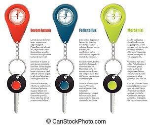 Key and keyholder infographic design.