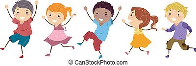 Kinder überspringen