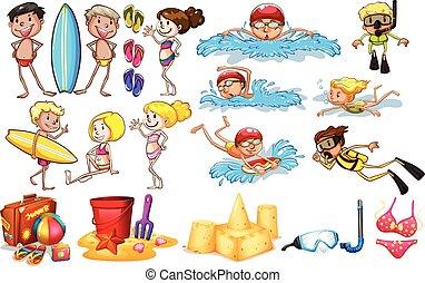 Kinder, die den Sommer genießen.