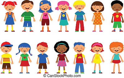 Kinder - ein paar süße Illustrationen, Vektor